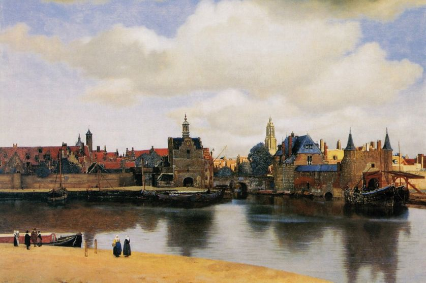 Vermeer's View of Delft (circa 1660), in the Mauritshuis Museum in The Hague