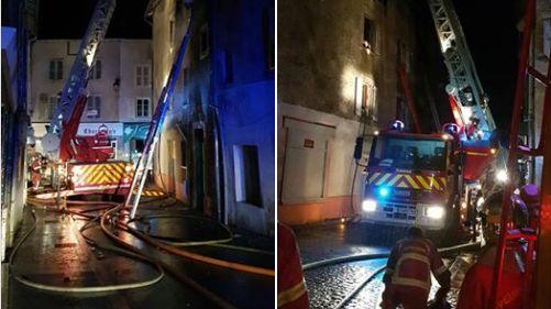 L'incendie s'était produit dans un immeuble du centre de Bellac vendredi soir