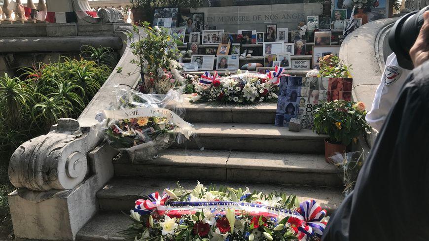 Le mémorial des victimes de l'attentat de Nice à la villa Masséna à Nice