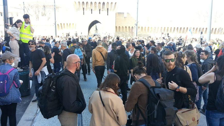 La manifestation des gilets jaunes à Avignon