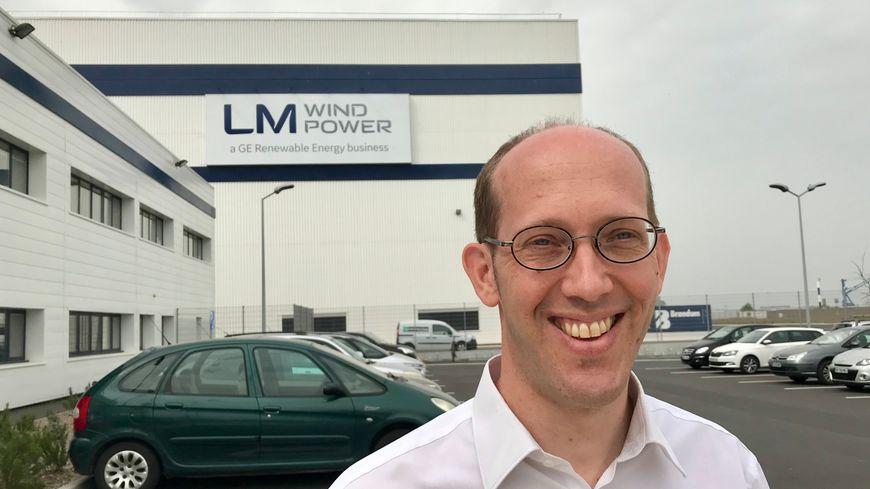 Le directeur de l'usine LM Wind Power de Cherbourg, Erwan Le Floch