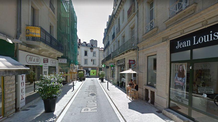 La rue André Saigne à Périgueux où a été découvert le squelette