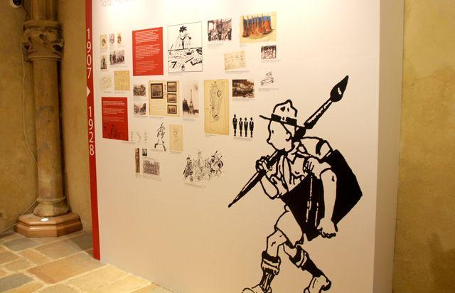 """Sur les débuts d'Hergé dans l'exposition """"Hergé, une vie, une oeuvre"""" au Château de Malbrouck"""
