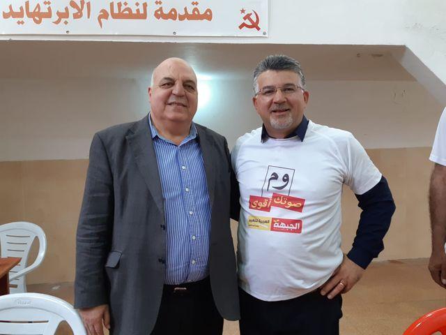 Après l'adoption l'an dernier de la loi sur l'Etat-nation juif par le gouvernement Netanyahou, Youssef Jabareen (à droite), député arabe israélien sortant, fait un choix de raison : il votera pour le centriste Benny Gantz.