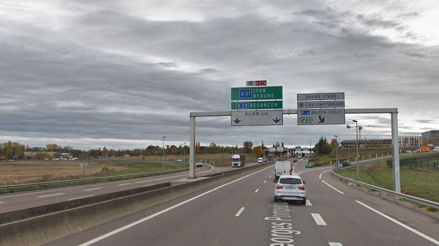 Un accident provoque des bouchons sur la voie Pompidou à Dijon
