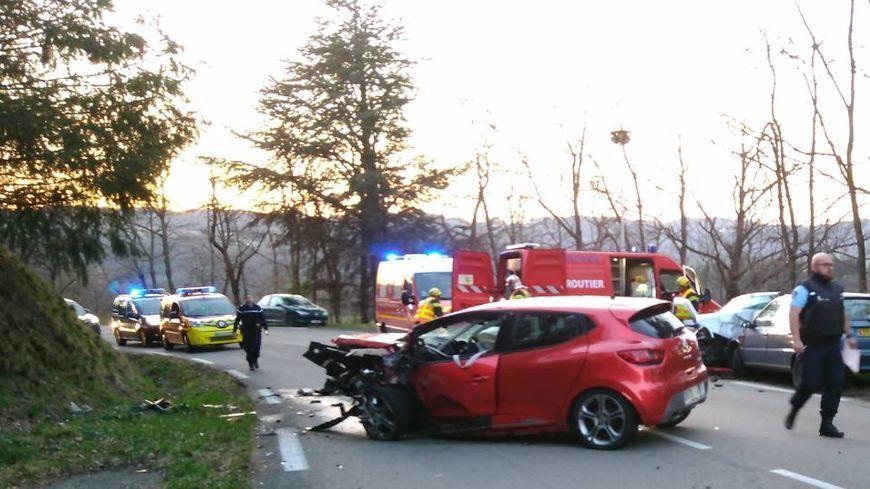 L'accident a eu lieu sur la départementale 14 à hauteur de Boffres