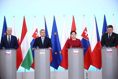 Conférence de presse du Groupe de Visegrad à Varsovie 02/03/2017