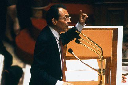 Michel Rocard lors de son discours de politique générale à l'Assemblée Nationale le 28/06/1988