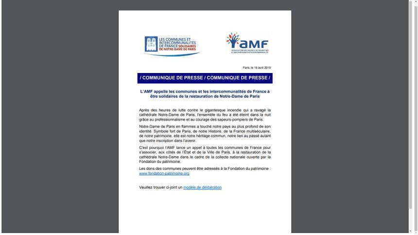 L'appel aux dons de l'AMF.