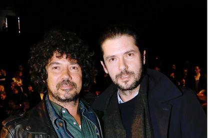 Le musicien Yarol Poupaud et son frère l'acteur Melvil Poupaud, à Paris le 18 janvier 2014 à Paris