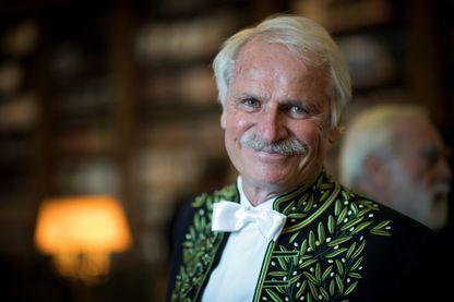 Yann Arthus-Bertrand, photographe, reporter, réalisateur, écologiste et président de la fondation GoodPlanet  à la bibliothèque de l'Institut de France le 6 février 2019 à Paris.