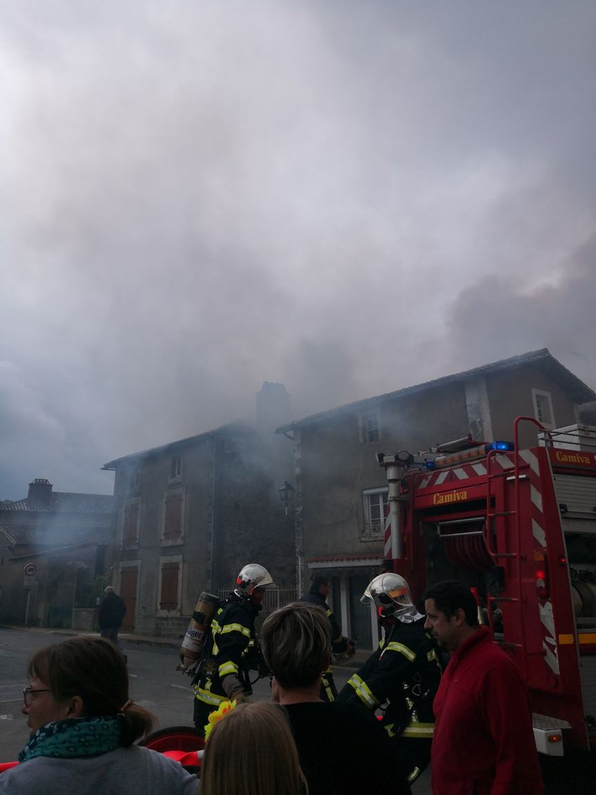 Illustration : l'incendie dans l'ancienne boulangerie