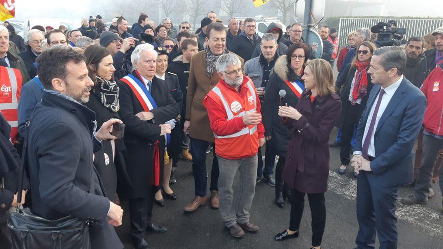 Agnès Pannier-Runacher lors de sa première visite aux Fonderies du Poitou en mars 2019