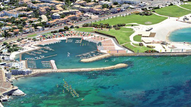 Un projet de la future base nautique de Marseille pour les JO de 2024 ; des modifications sont encore possibles