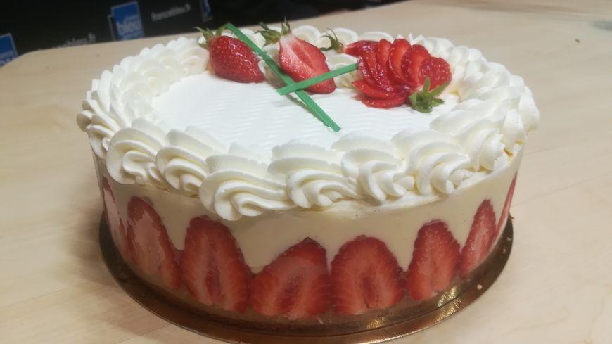 Le fraisier de Maéva Darléon du foodtruck Vadrouille Gourmande