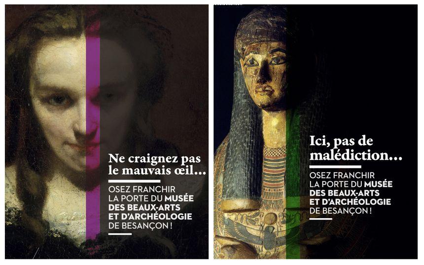 Le MBAA de Besançon lance une nouvelle campagne de communication déclinée en quatre affiches