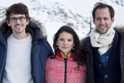 Hugo Gélin, Josephine Japy and Benjamin Lavernhe en janvier 2019 à l'Alpe d'Huez au Festival International de la comédie