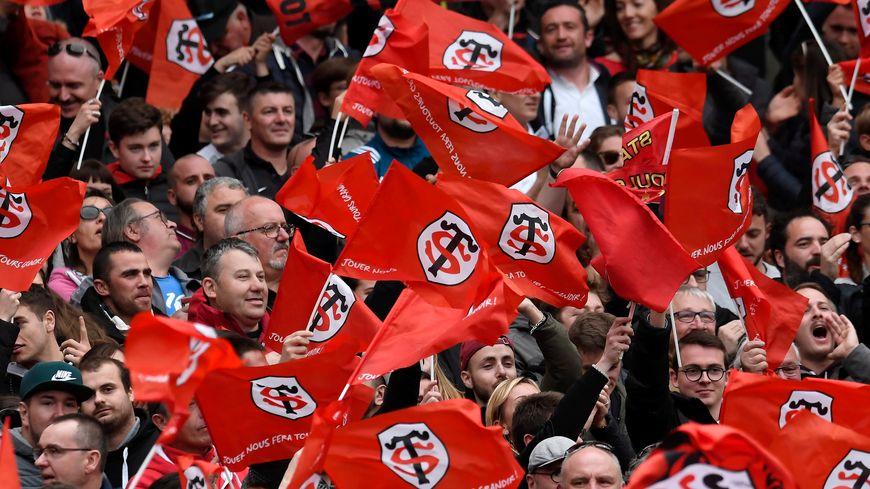 Les supporters du Stade Toulousain, le dimanche 14 avril 2019 contre Clermont