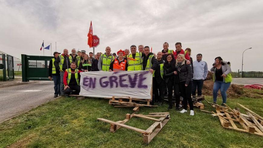Piquet de grève ce mardi devant le site de Rosières-aux-Salines