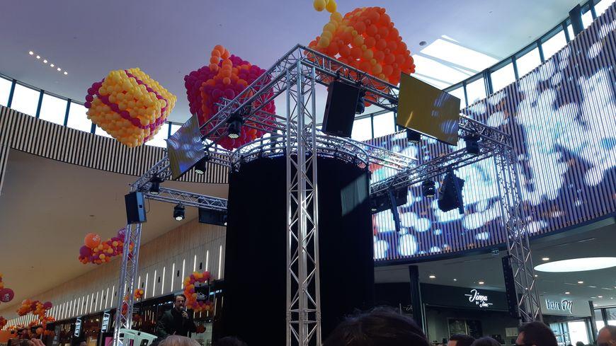 Le centre commercial a organisé une petite fête pour ce premier anniversaire