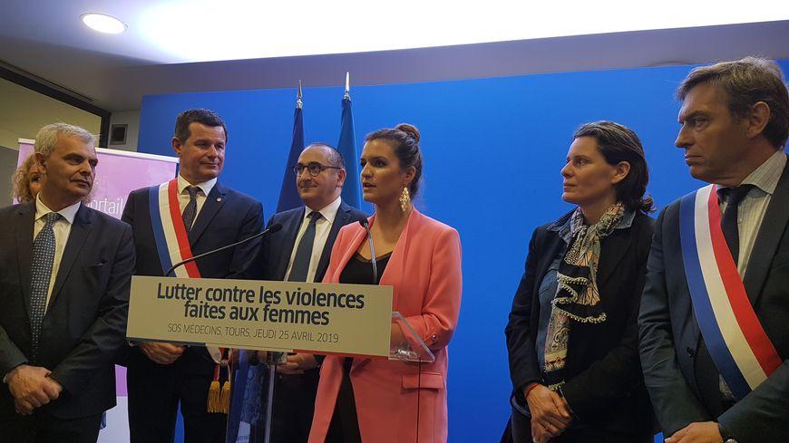 La secrétaire d'Etat, Marlène Schiappa, chargée de l'Égalité entre les femmes et les hommes et de la lutte contre les discriminations