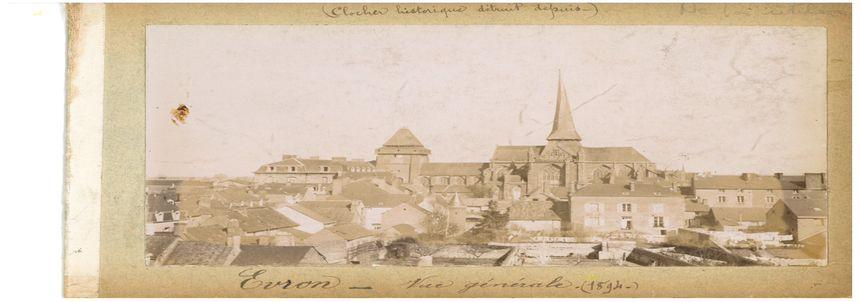 La basilique d'Évron en 1894.