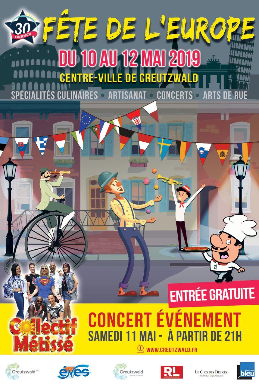 France Bleu Lorraine partenaire de la 30ème fête de l'Europe à Creutzwald du 10 au 12 mai