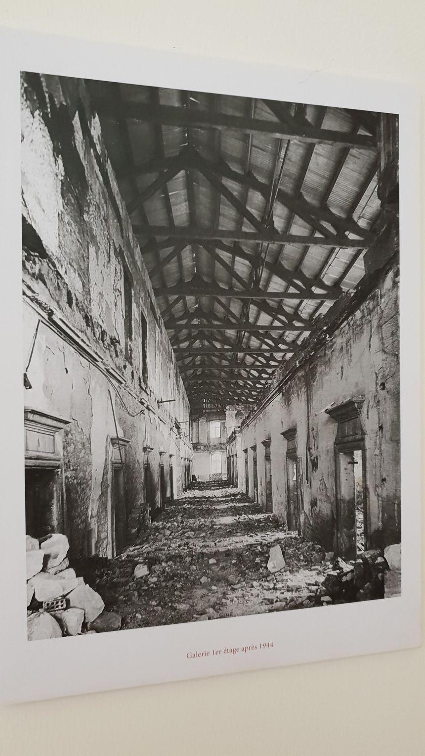 Les couloirs avant la rénovations du bâtiment