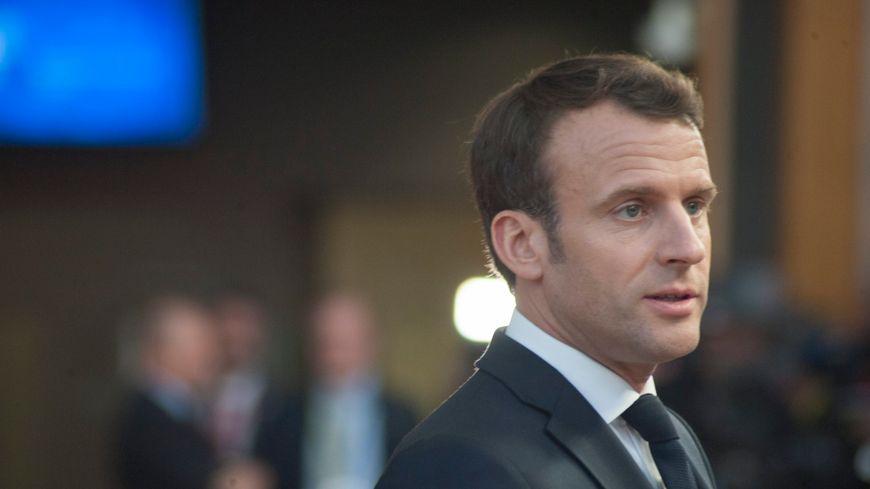 Emmanuel Macron à Bruxelles, le 10 avril 2019