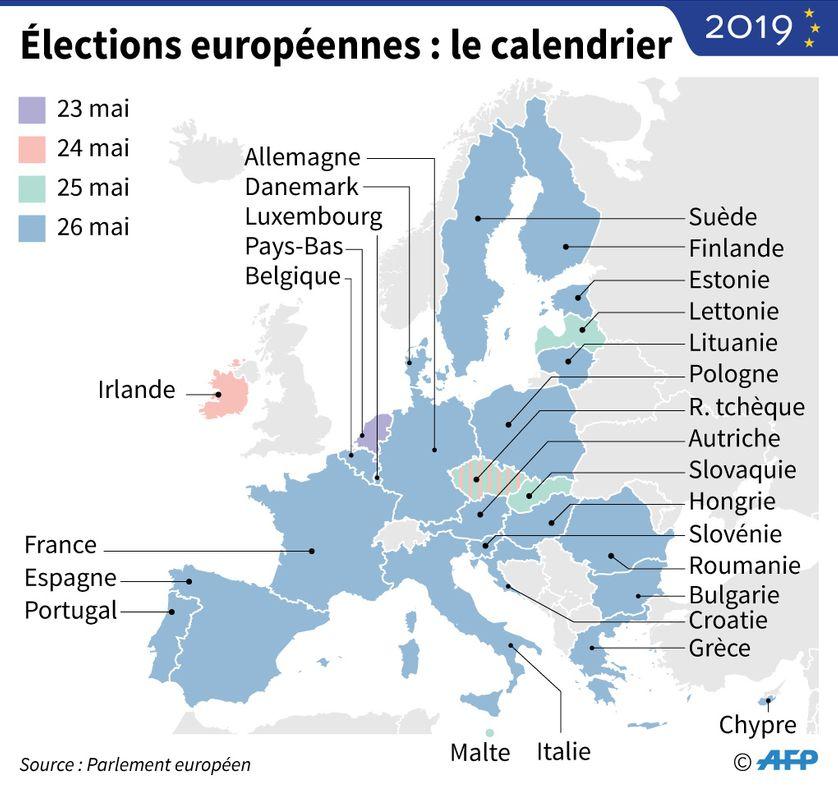Calendrier Election 2019.Elections Europeennes Les 12 Tetes De Liste Lancent La