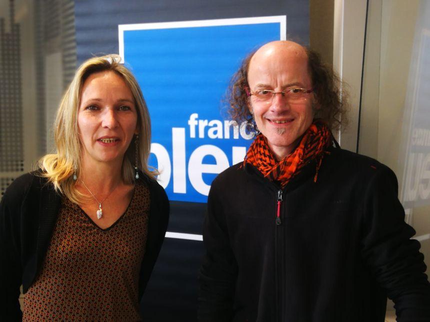 Alice Vogel et Jean Louis Cuenne, percussionniste