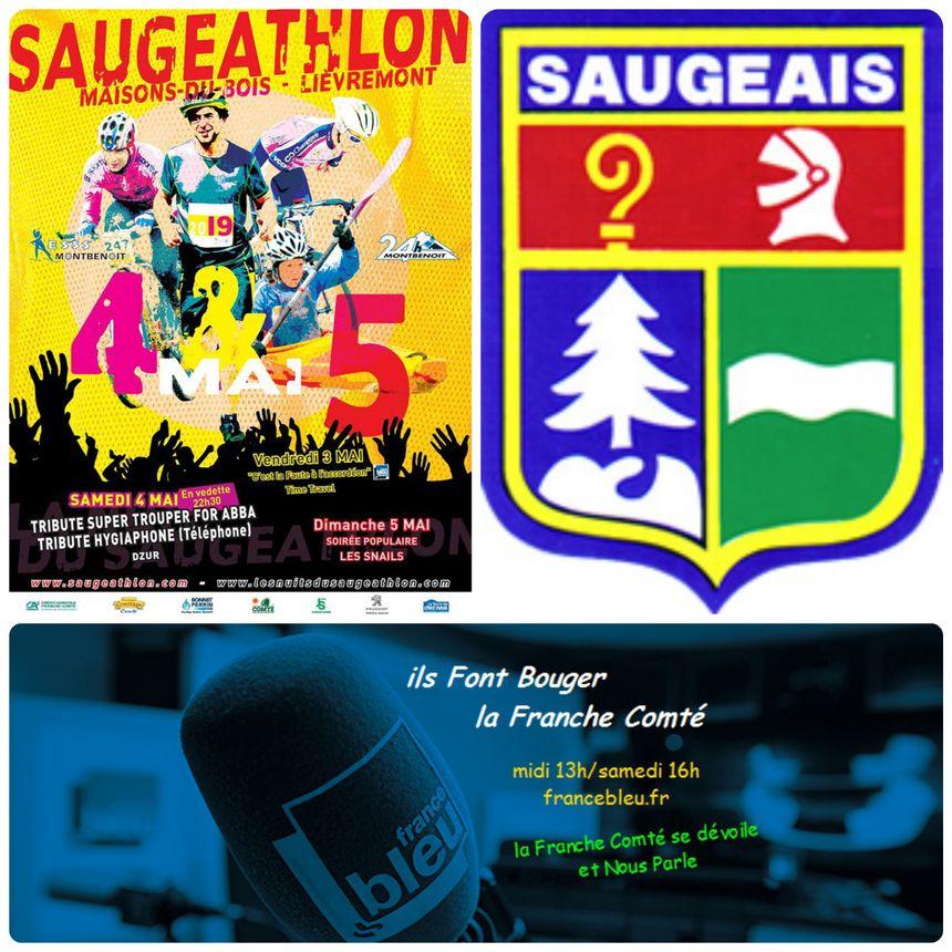 C'est une belle histoire que Partage la République Du Saugeais, Celle des 24h de Montbenoit, Les nuits Saugettes et le Saugeathlon