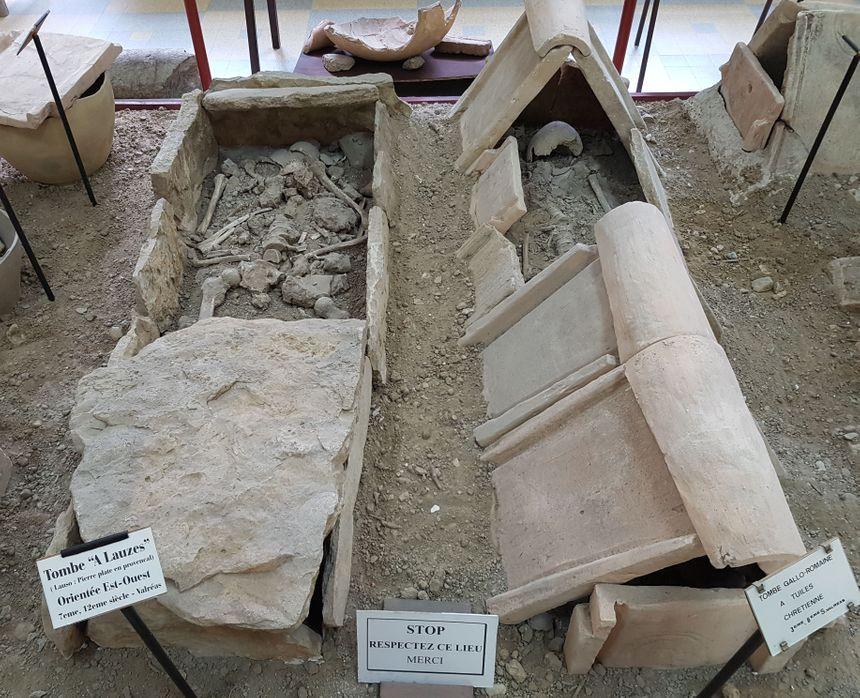 Tombes issues des fouilles sur Valréas