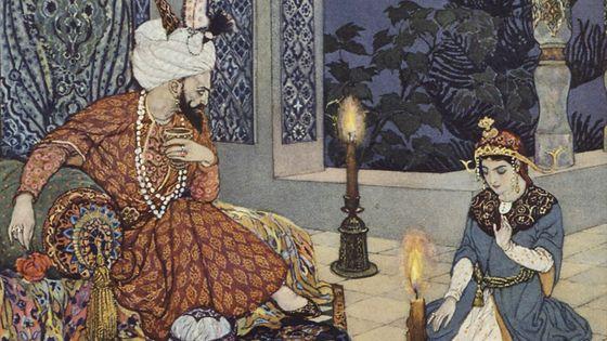 Illustration des « Mille et Une nuits » (détail) par Léon Carré (1878-1942) © BnF / 1888, Nicolaï Rimski-Korsakov compose Shéhérazade- Musicopolis