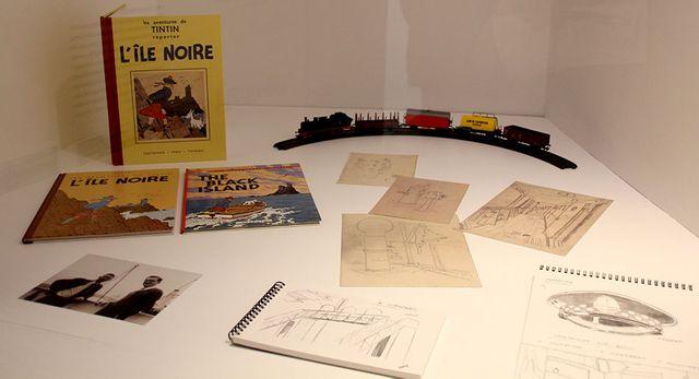 """Dans l'exposition """"Hergé, une vie, une oeuvre"""" au Château de Malbrouck en Moselle"""