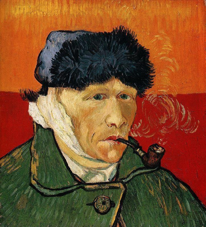 Autoportrait à l'oreille bandée ou L'homme à la pipe, par Vincent van Gogh.