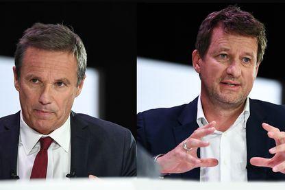 """Nicolas Dupont-Aignan, tête de liste Debout la France pour les élections européennes, et Yannick Jadot, tête de liste EELV pour les élections européennes, sont les invités de """"Questions Politiques"""""""