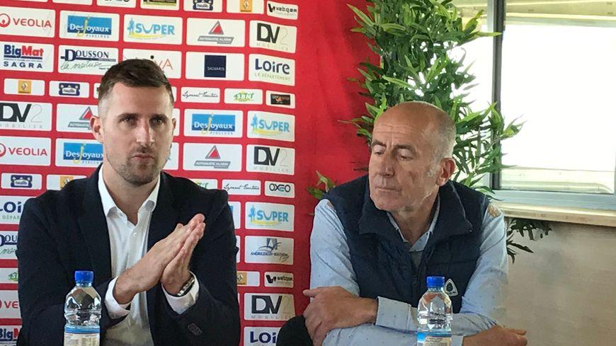 François Clerc aux côtés de Philippe Pradier, responsable de l'association.
