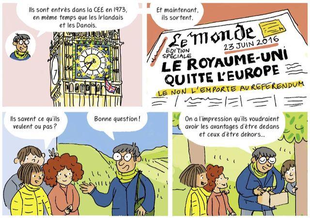 """Planche extraite de """"L'Europe en BD"""""""