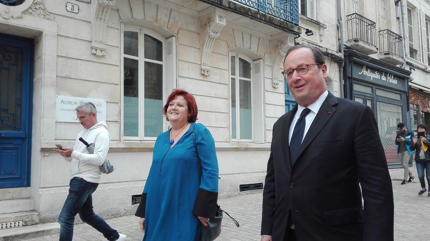 """François Hollande était venu à Niort le 12 juin 2018 pour dédicacer son livre """"Les leçons du pouvoir"""""""