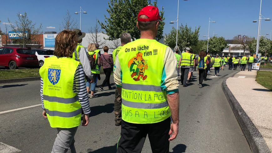 170 gilets jaunes ont manifesté ce samedi à Montbéliard.