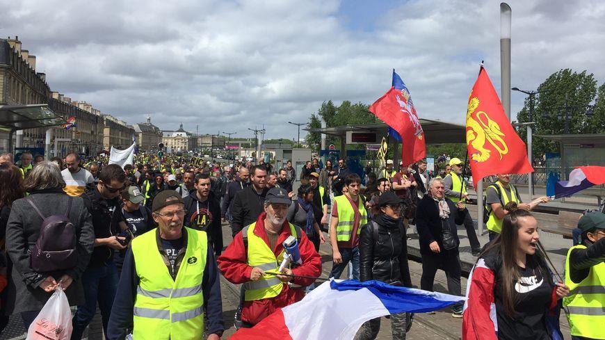 Les manifestants ont investi les boulevards, loin du centre-ville.