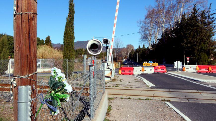 Le passage à niveau de l'accident de Millas.