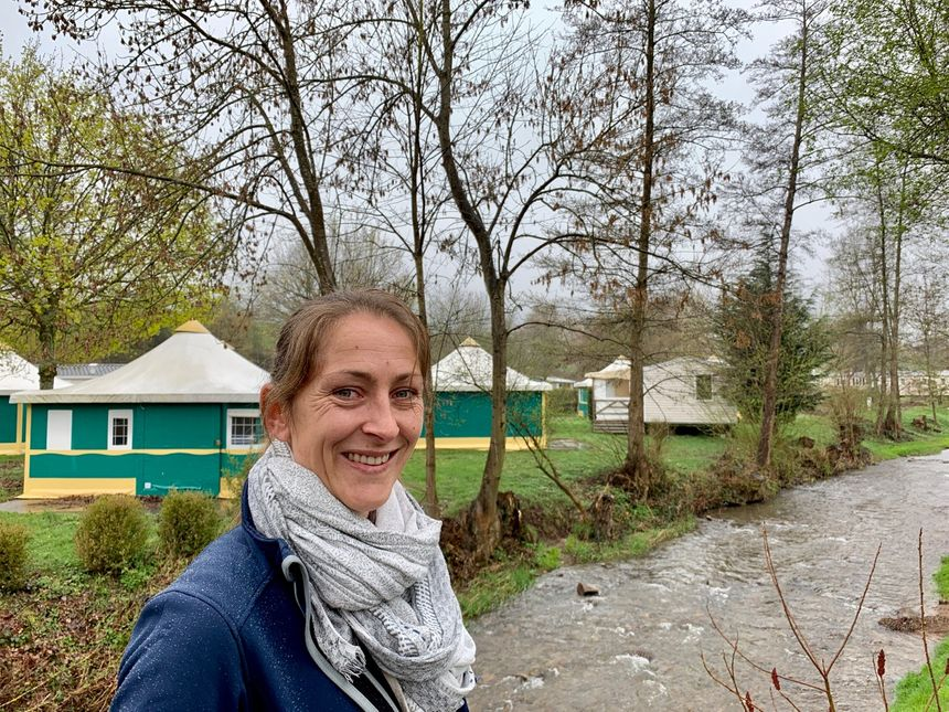 Bassemberg, Jeanne Blier, directrice du camping