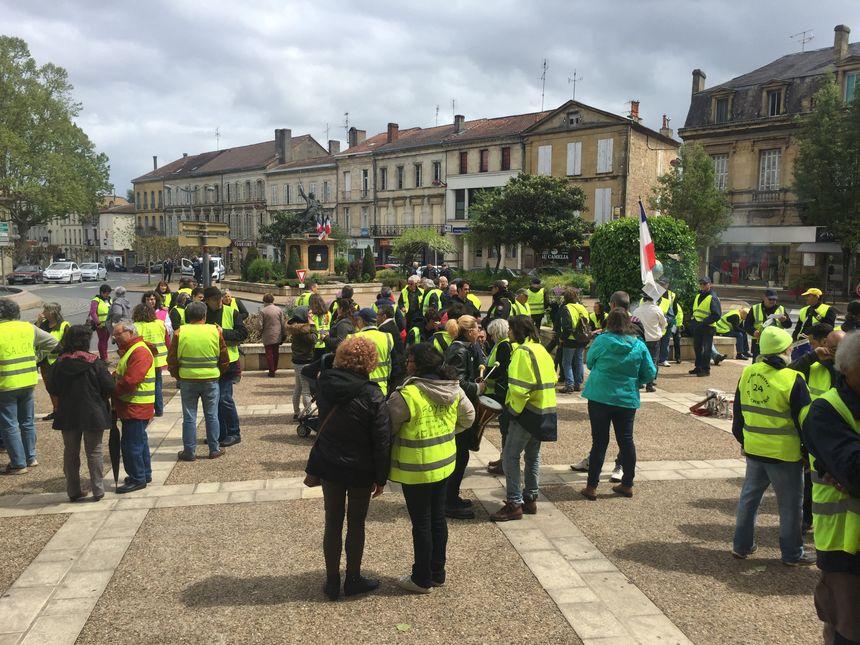 Manifestation des gilets jaunes à Bergerac