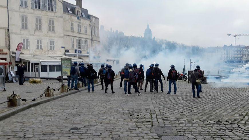 Début février la manifestation des gilets jaunes sur le Vieux Port à la Rochelle avait été dispersée