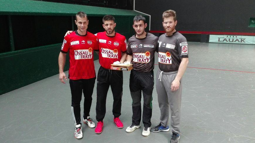 Bixintxo Bilbao, Peio Larralde, Mathieu Ospital et Battitta Ducassou.