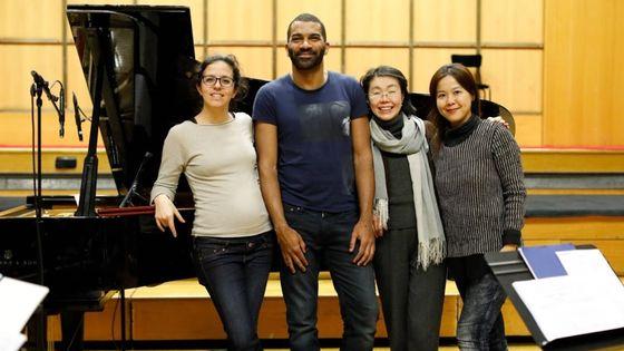 Fanny Vicens, Wilhem Latchoumia, Lin-Ni Liao et Wang Ying-Chieh au studio 106