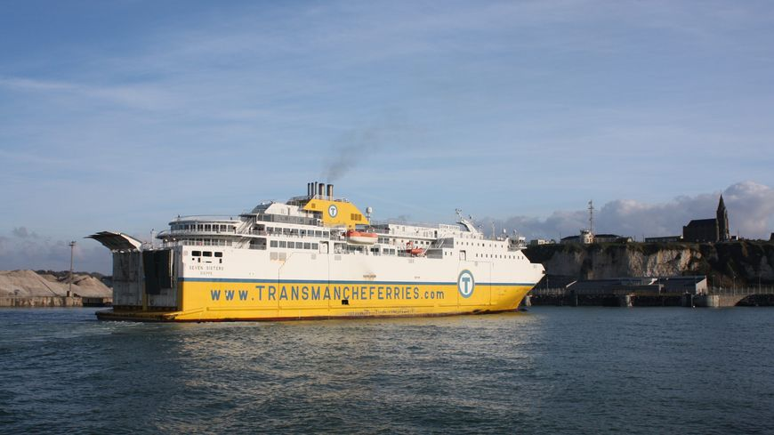 La fuite s'est produite sur la parking poids-lourd du terminal transmanche à Dieppe