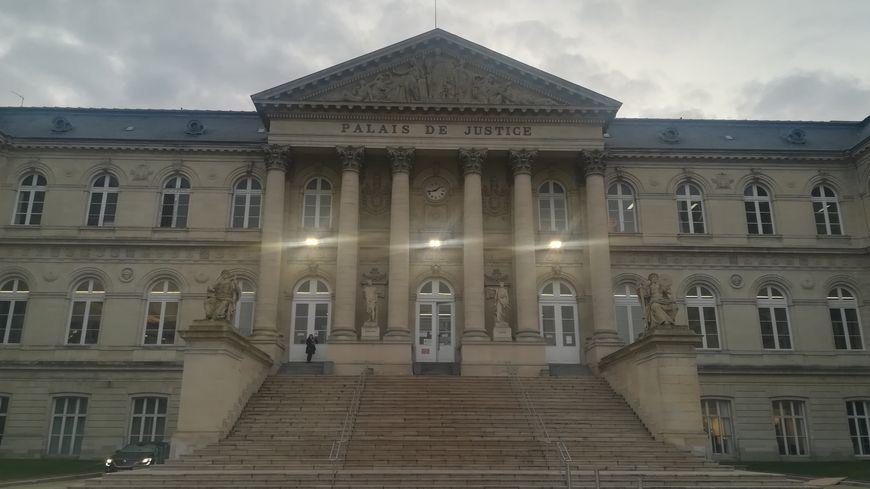 Palais de justice d'Amiens dans la Somme. Janvier 2019.